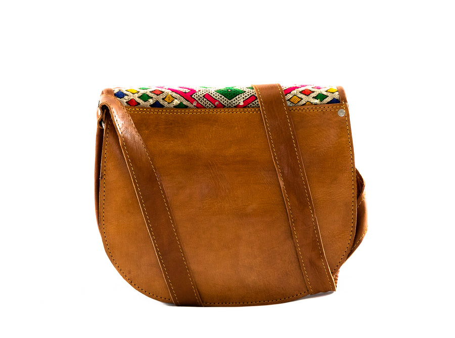 Moroccan Leather Cross Body Bag - Home and Tribe
