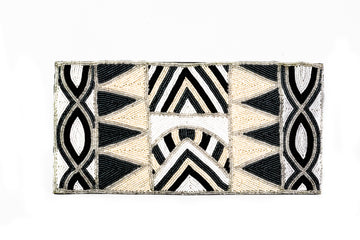 Beaded Monochrome Clutch - Home and Tribe
