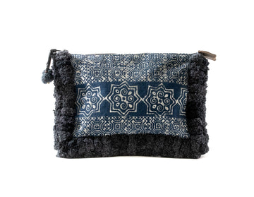 Black Pom Pom Clutch - Home and Tribe
