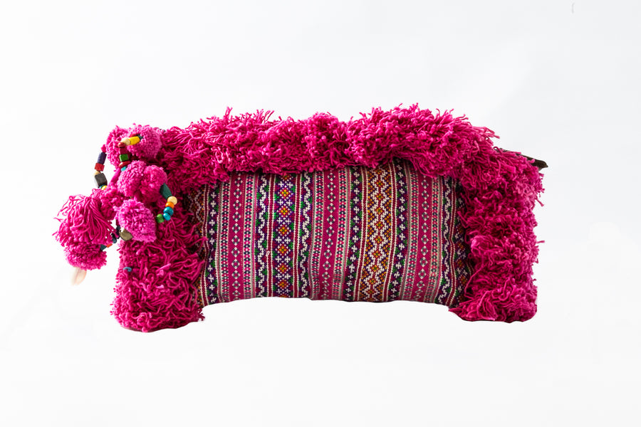 Pretty in Pink Mini Tassel Clutch - Home and Tribe