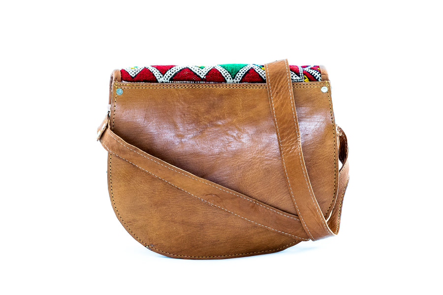 Morocco Leather Cross Body Bag - Home and Tribe