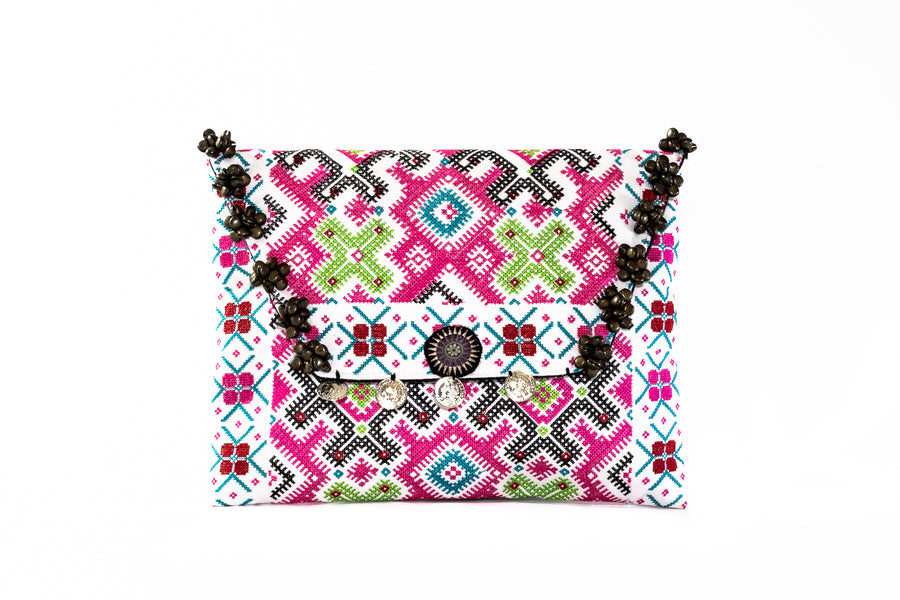 Embroidered Clutch - Home and Tribe