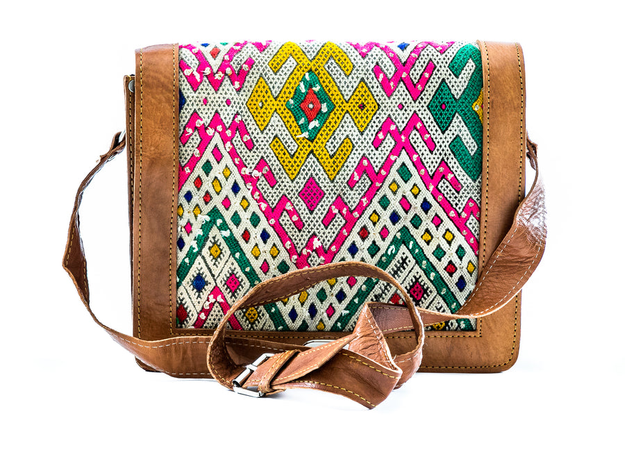 Moroccan Leather Cross Body Satchel - Home and Tribe