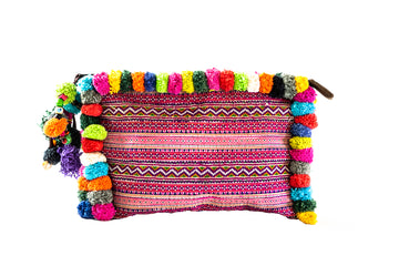 Rainbow Pom Pom Clutch - Home and Tribe