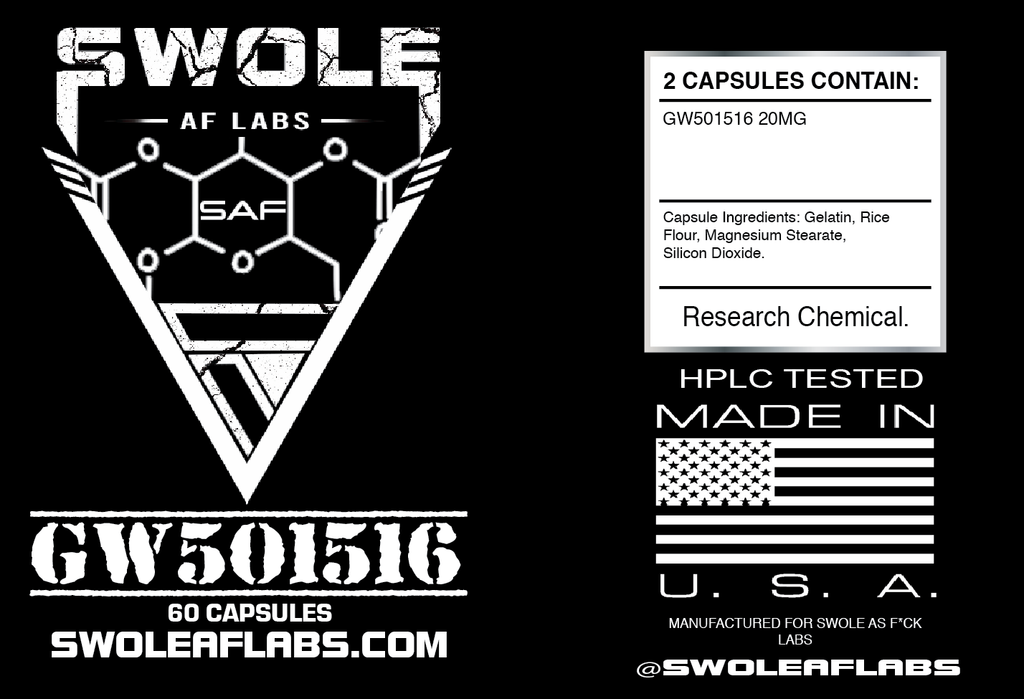 Swole AF Labs GW501516 Cardarine 60 Capsules