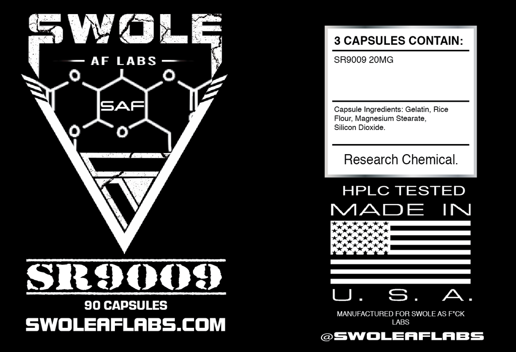 Swole AF Labs SR9009 Stenabolic  90 Capsules