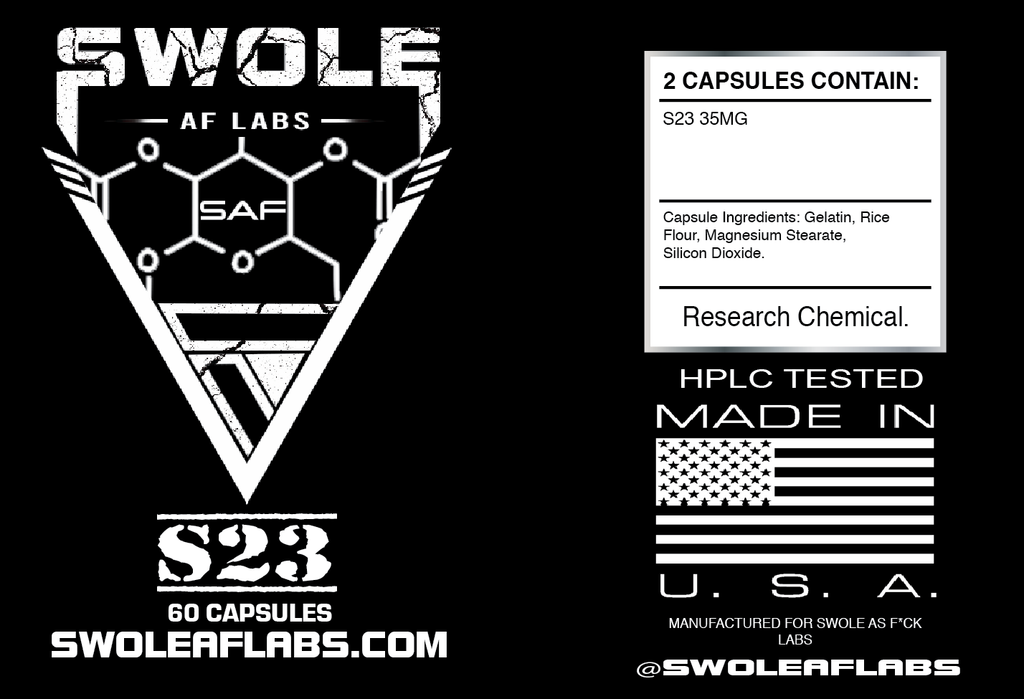 Swole AF Labs S23 30ml 60 Capsules