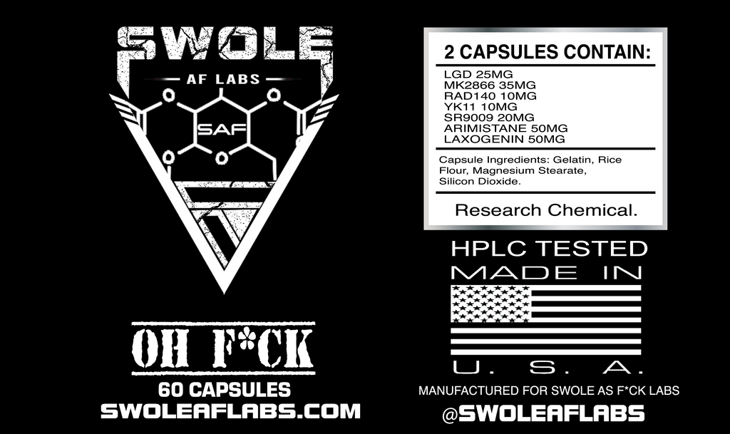 Swole AF Labs OH F*CK 7 in 1 Capsules ingredients