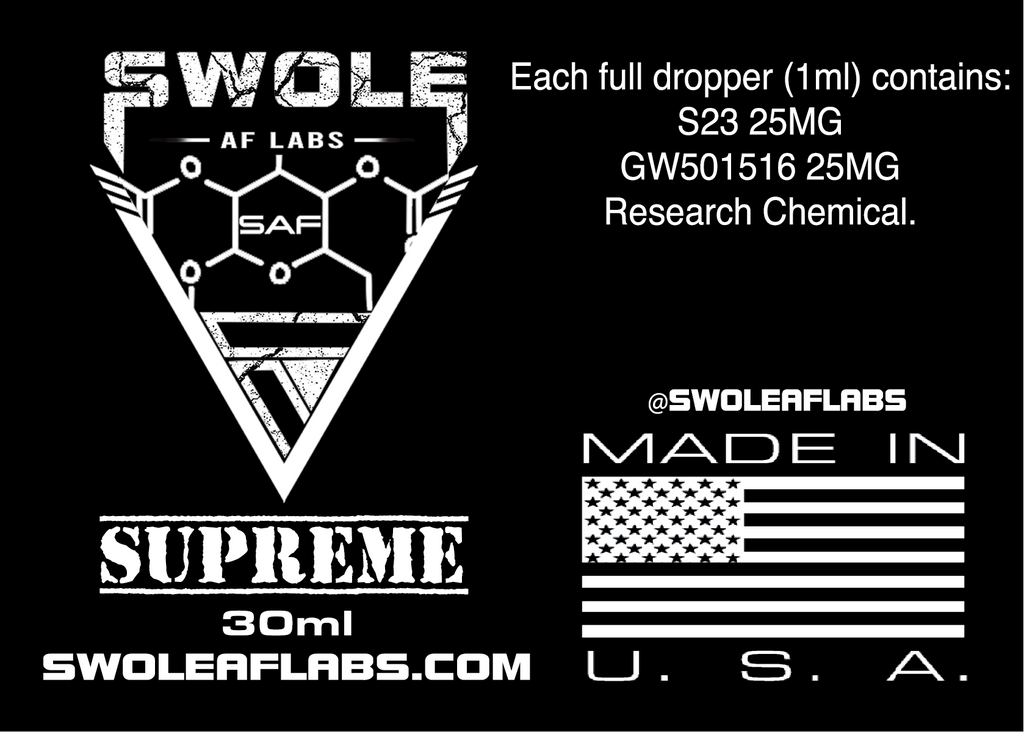 Swole AF Labs Supreme 2 in 1 Stack 30ml Dropper