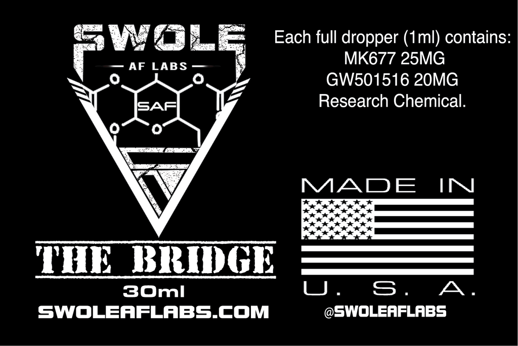 Swole AF Labs The Bridge 2 in 1 Stack 30ml Dropper