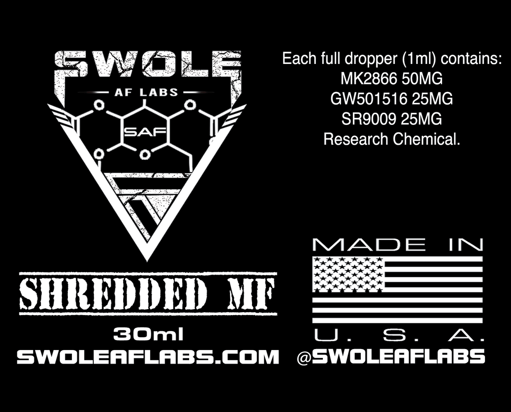 Swole AF Labs Shredded MF 3 in 1 Stack 30ml Dropper