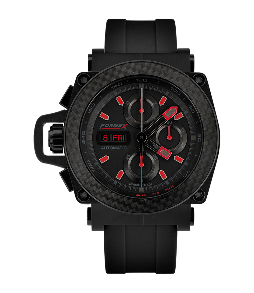 Automatic Chronograph Carbon Bezel Black Limited Edition