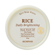 Load image into Gallery viewer, Rice Daily Brightening Mask Wash Off