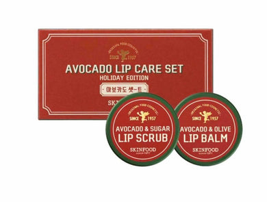 Avocado Lip Care Set (Avocado & Sugar Lip Scrub + Avocado & Oilve Lip Balm