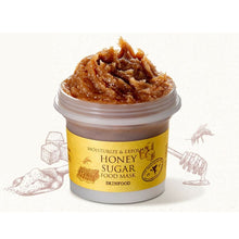 Load image into Gallery viewer, Moisturize & Exfoliate Honey Sugar Food Mask