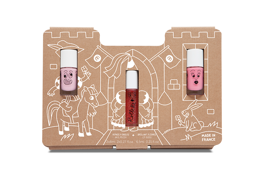 nailmatic - Princess Story - Nail Polishes and Lip Gloss Kids Set