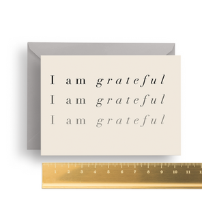 'I am Grateful' Affirmation Card