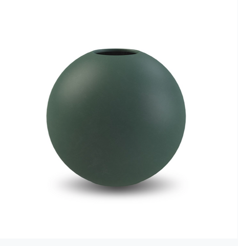 Ball Vase 20cm (Dark Green)