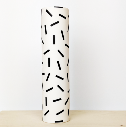 "Tall Ceramic ""Speckle"" Vase"