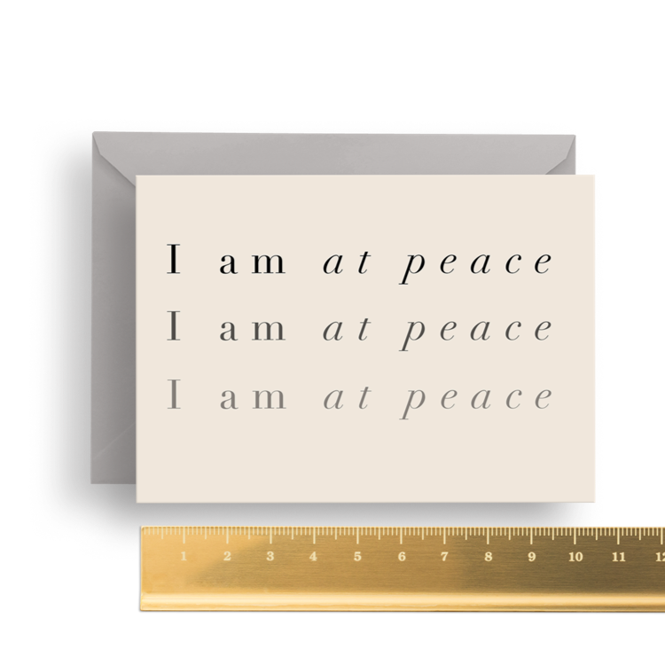 'I am at Peace' Affirmation Card