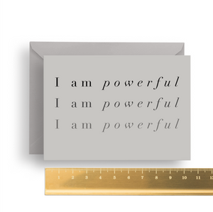 'I am Powerful' Affirmation Card