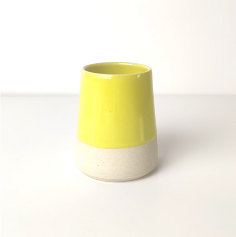 Make-up Brush/Toothbrush Holder - Yellow