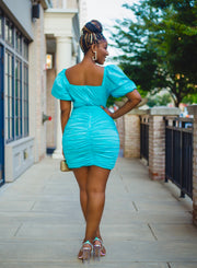 Cloud 9 ruched mini dress