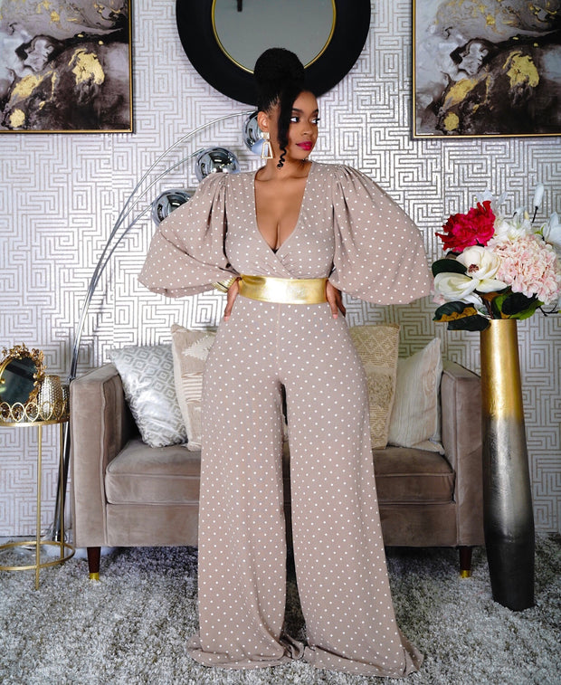 ROMANCE STATEMENT POLKA DOT JUMPSUIT