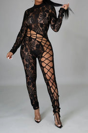 I don't play fair lace jumpsuit
