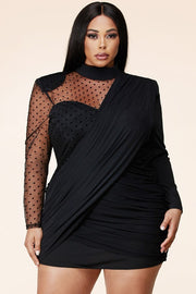SWEETHEART CONTRAST DOTTED MESH
