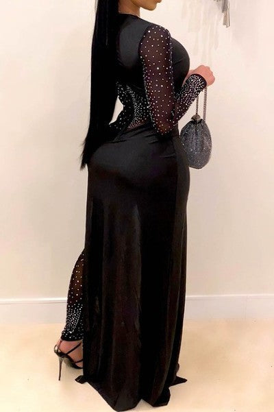 Party in New York rhinestone jumpsuit