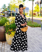 Black Statement polka dot jumpsuit