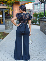 Mandy Black lace jumpsuit