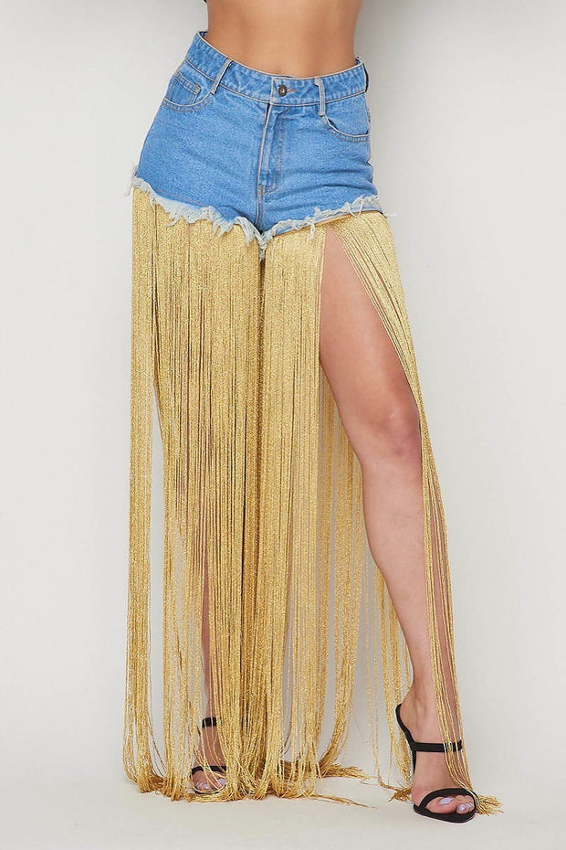 Night on the town fringes denim