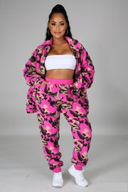 3 piece jogger set with matching hat included