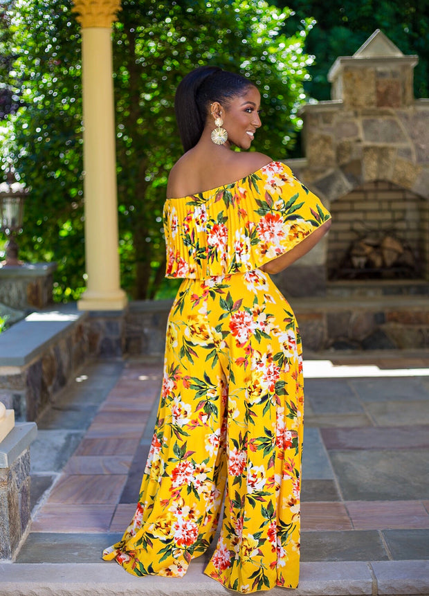 Tracy pleated floral jumpsuit