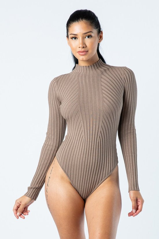 Turtleneck bodysuit .