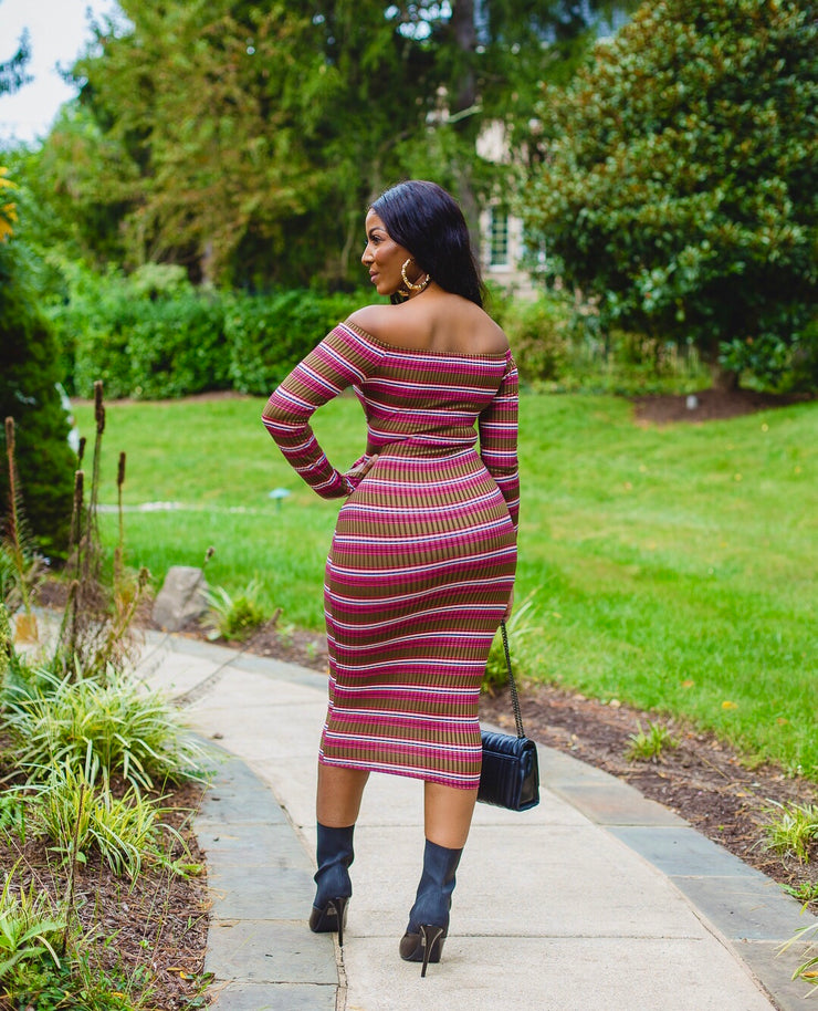 Monique waist tie midi dress