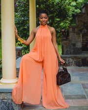 STATEMENT HALTER TOP WIDELEG JUMPSUIT