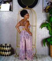 Wide leg tube jumpsuit