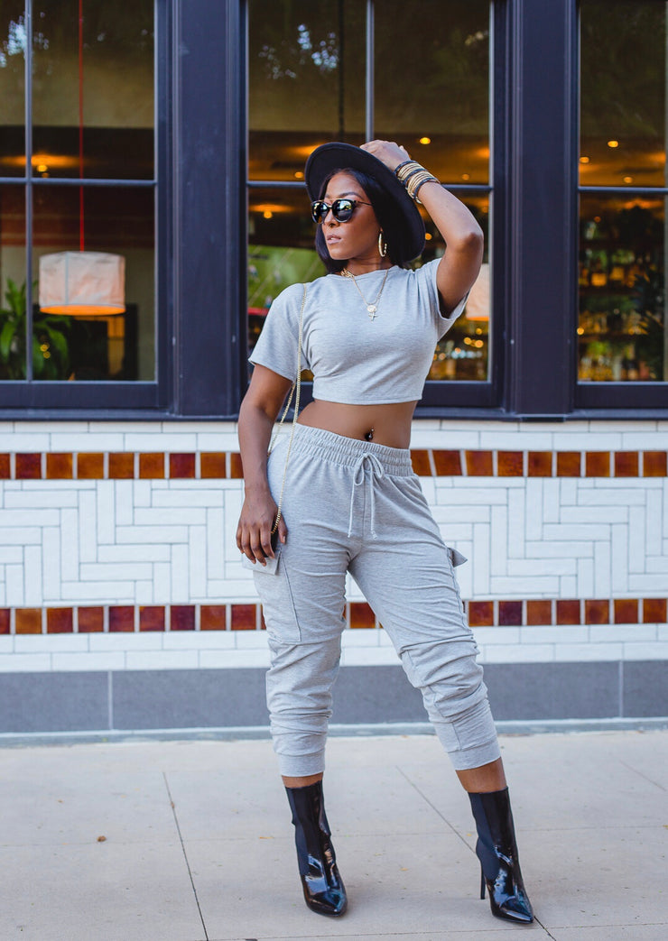 Casual chic jogger set