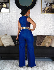 Basler Dark Denim Jumpsuit