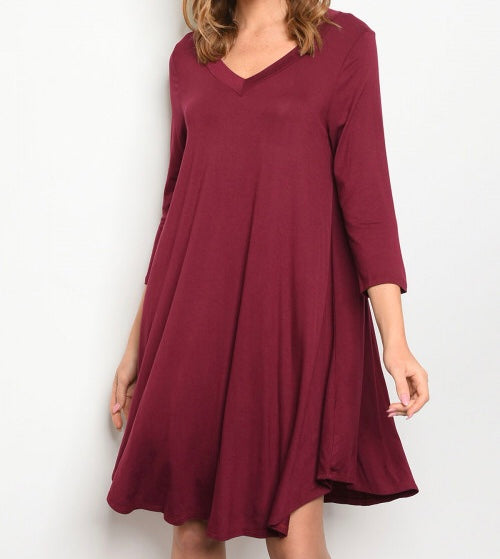 Casual comfy tunic dress