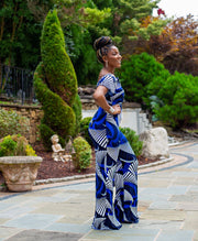 Royal Tribal print jumpsuit