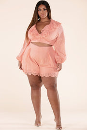 THEORIS BLUSH SHORTS TWO PIECE SET