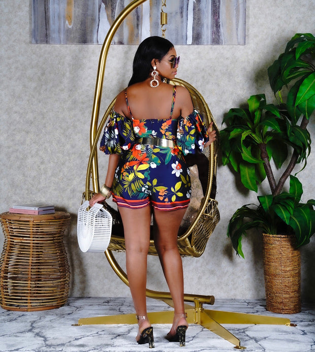 Full bloom floral romper