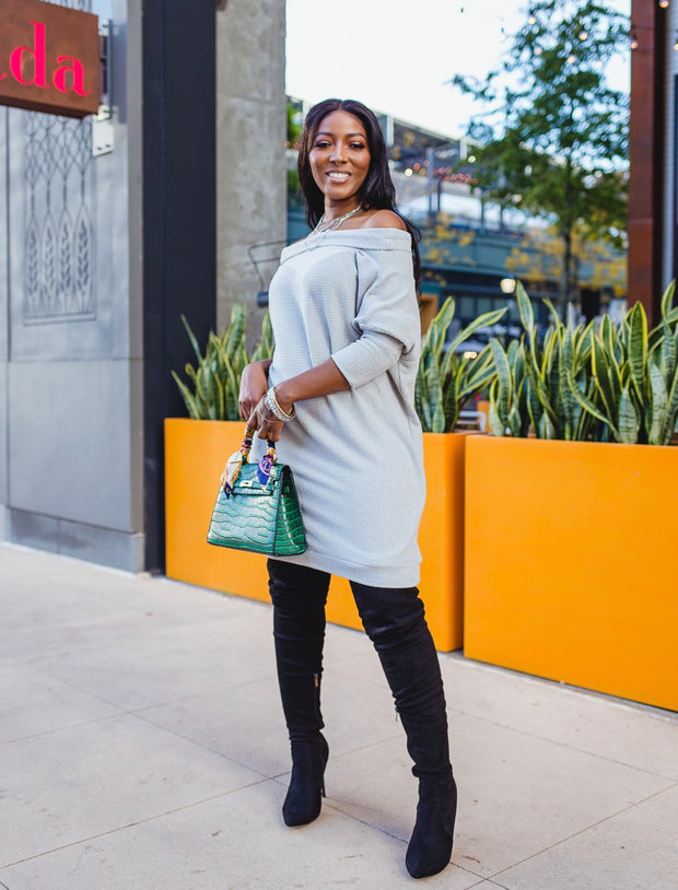 Loose fit sweater dress