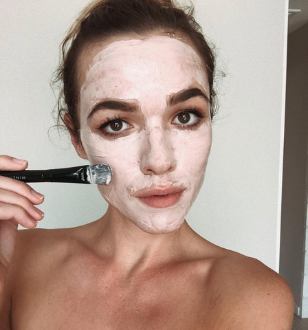 Demi Harman in Minenssey's Pink Clay Mask