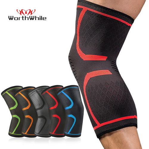 WorthWhile 1 PC Elastic Knee Pads Nylon Sports Fitness Kneepad Fitness Gear Patella Brace Running Basketball Volleyball Support