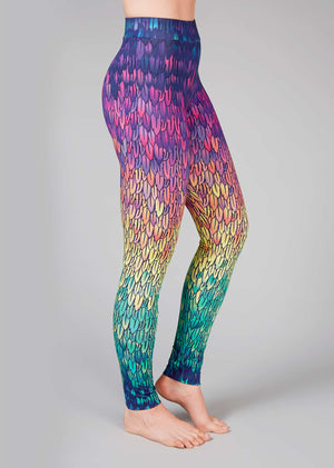 TALENTED LONG Leggings Feathers
